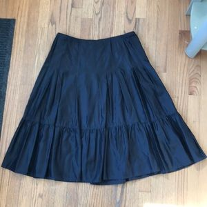 Black Pleated Ruffle Skirt